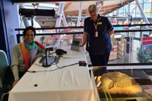 Fiona Cook, senior sister with Naga Munchetty at the Centre for Life