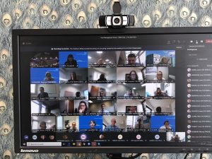 Virtual meeting on a PC screen
