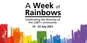 A week of rainbows graphic